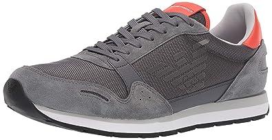 3dde9c59daf Emporio Armani Runner Homme Baskets Mode Gris  Amazon.fr  Chaussures ...