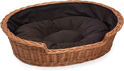 Prestige Wicker HnadMade Wicker Cat Dog Bed Basket Medium