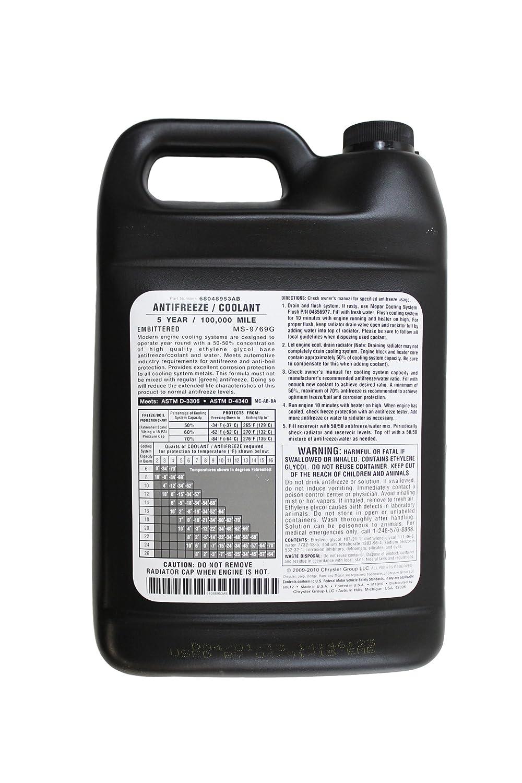 Genuine Mopar Fluid 68048953ab Antifreeze Coolant 1 Jeep Wrangler Radiator Overflow Tank Gallon Bottle Automotive