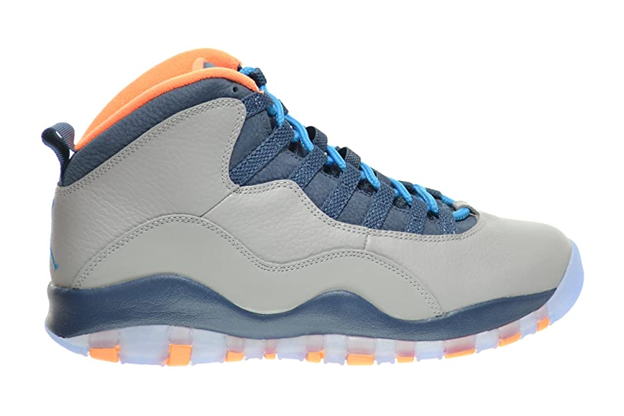 49e570ba7f7e Authentic Nike Air Jordan 10 Wolf Grey Dark Powder Blue New Slat ...