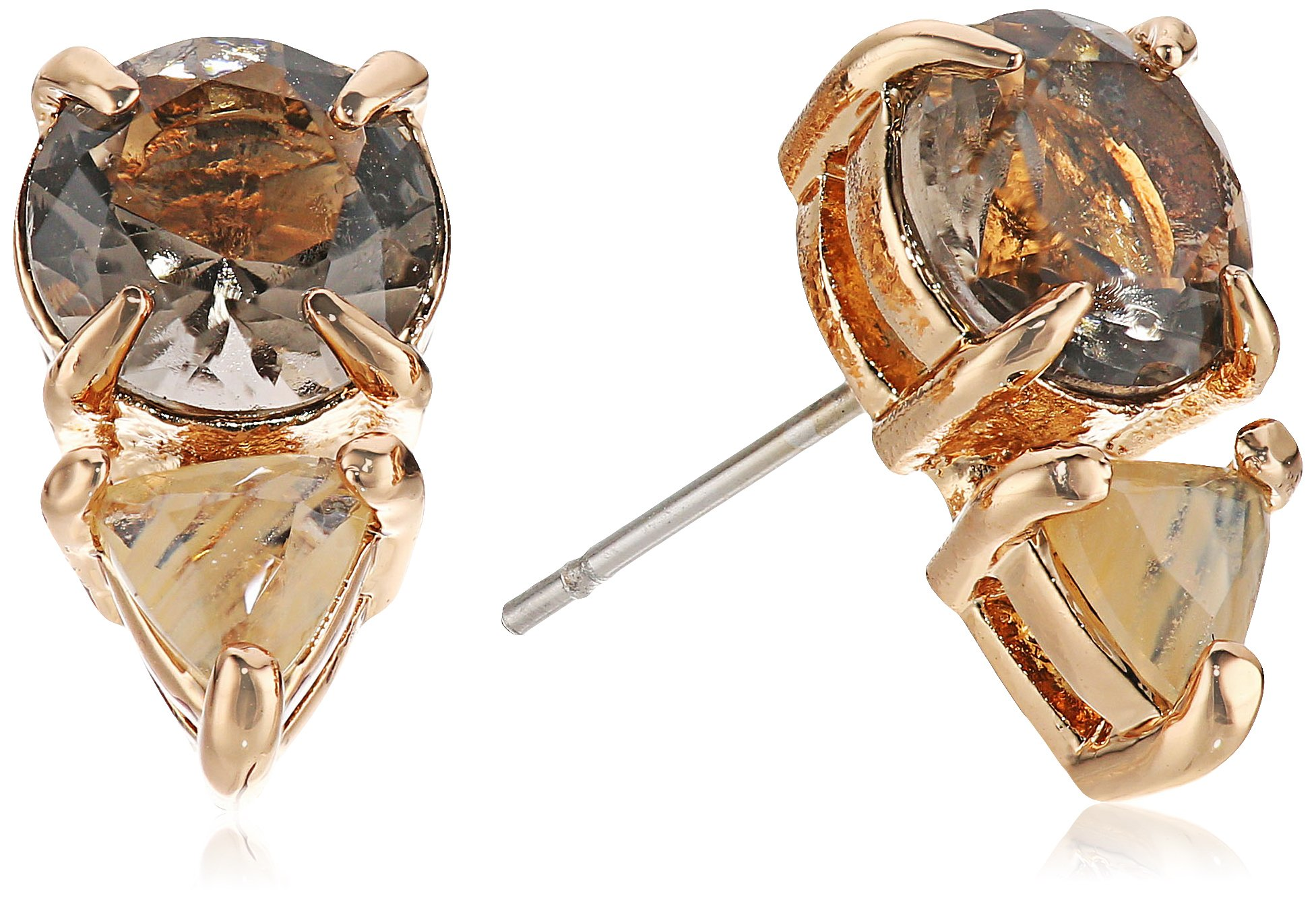 Vince Camuto Citrine Glass Stud Earrings