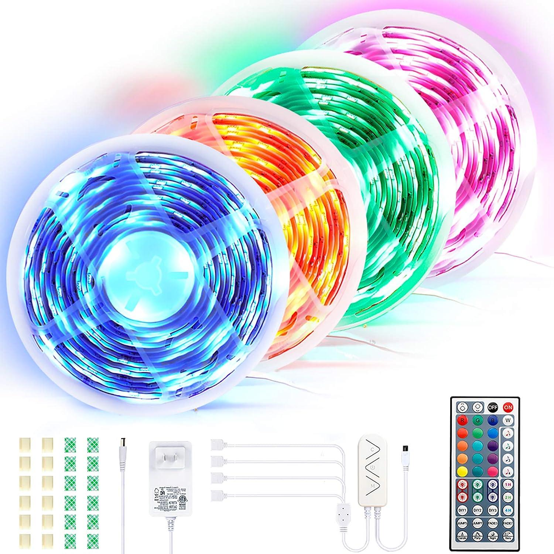 4 pcs Ultra-Long RGB LED Tape Light Strip
