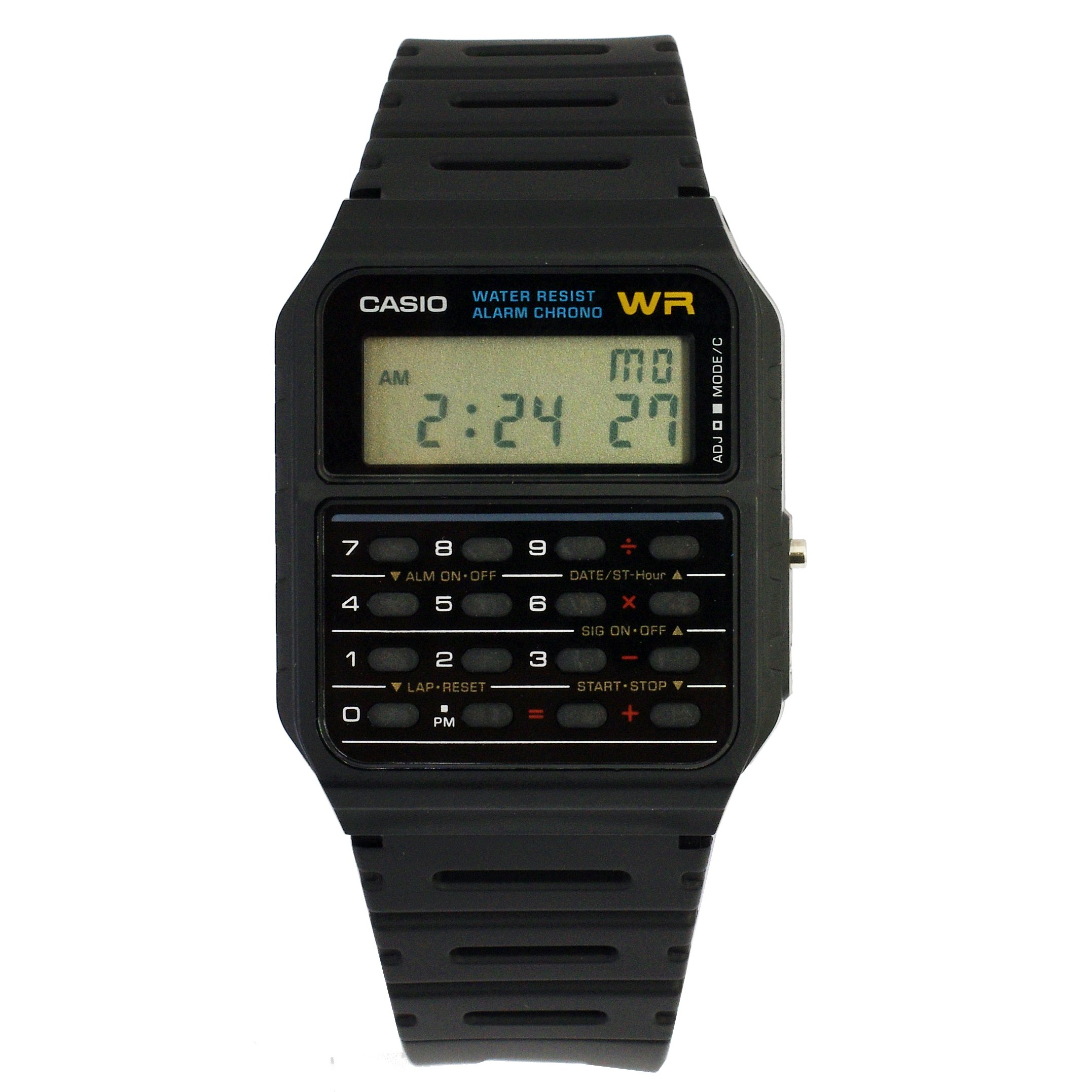 Details About Casio Mens Twincept Databank Ani Digi Resin Watch Black Ca 53w 1z