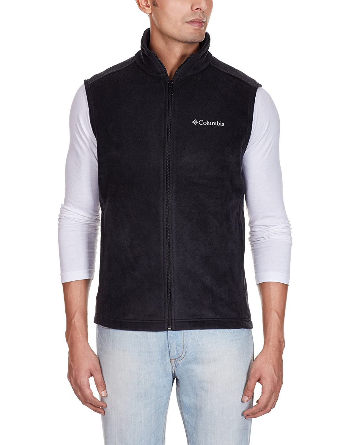 Columbia Men's Cathedral Peak Front-Zip Fleece Vest at Amazon ...