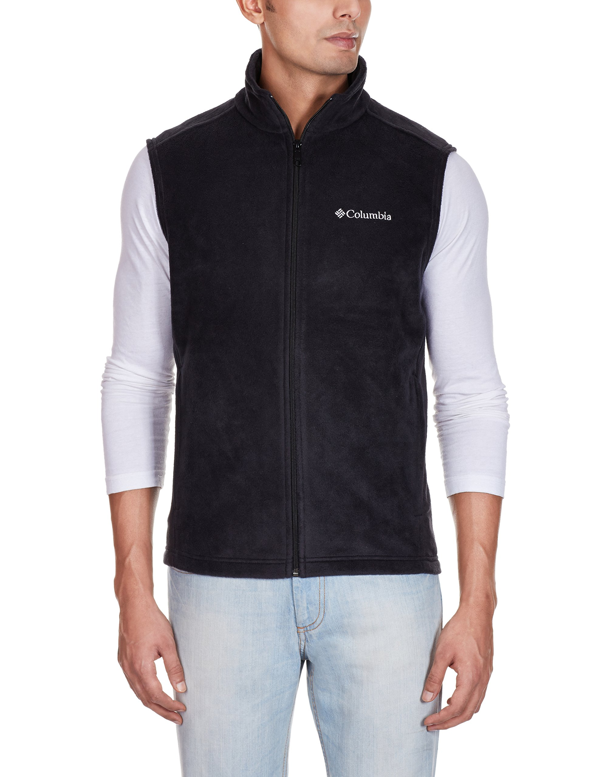 Columbia Men's Cathedral Peak II Fleece Vest, Black, X-Large