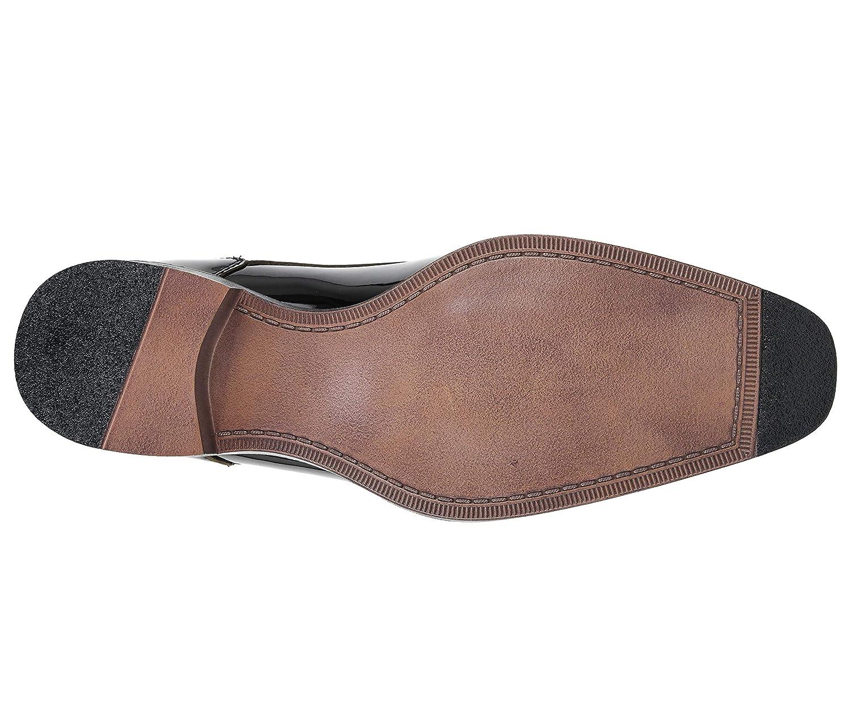 Style Classiko Amali The Original Mens Patent High Shine Faux Leather Lace Up Oxford Dress Shoe