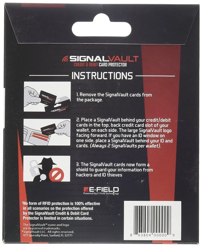 Amazon Signalvault Sv 2pack Rfid Blocking Signal Vault Credit