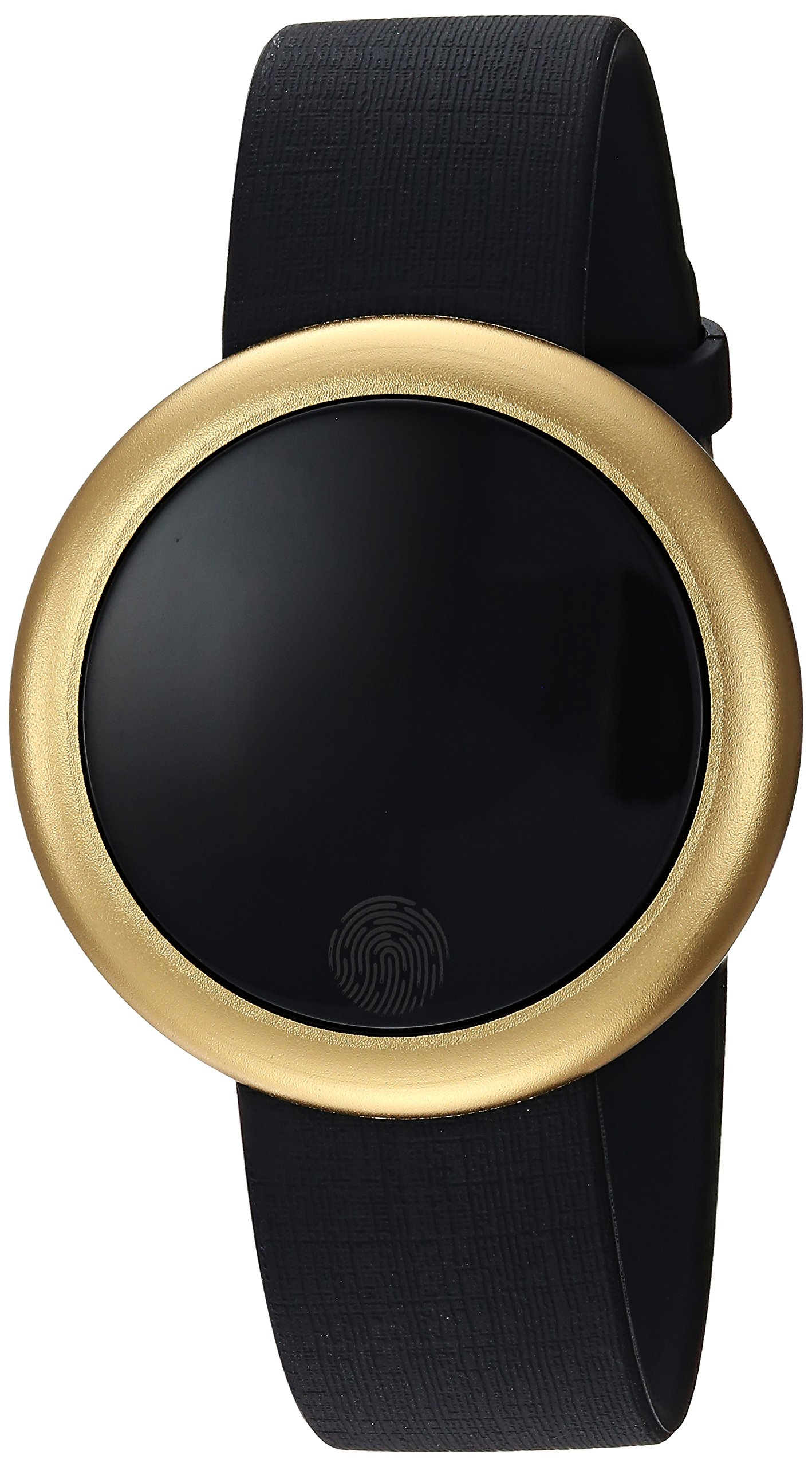 Emotion Unisex Metal and Rubber Smartwatch, Color: Gold-Tone, Black (Model: FMDEM002)