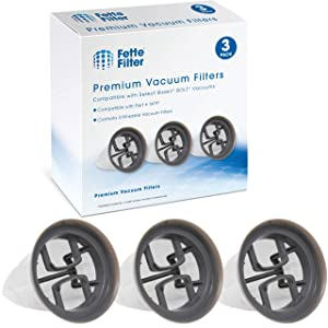 Fette Filter Hand Vacuum Filter Compatible with Bissell Bolt Stick. Compare to Part # 1479 (Pack of 3)