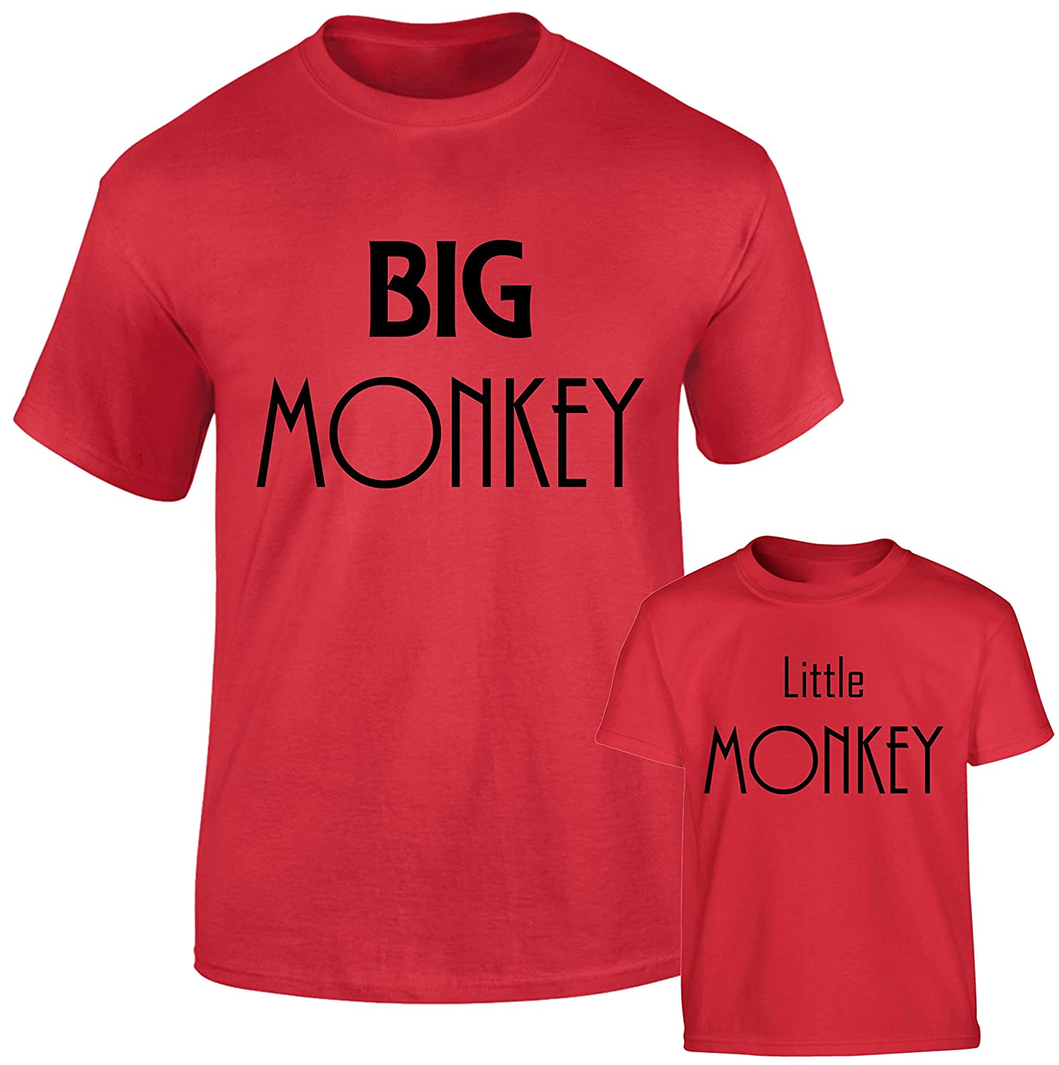 5065d64d SuperPraise Daddy Daughter Dad Son Matching T Shirts Big Monkey & Little  Monkey: Amazon.co.uk: Clothing