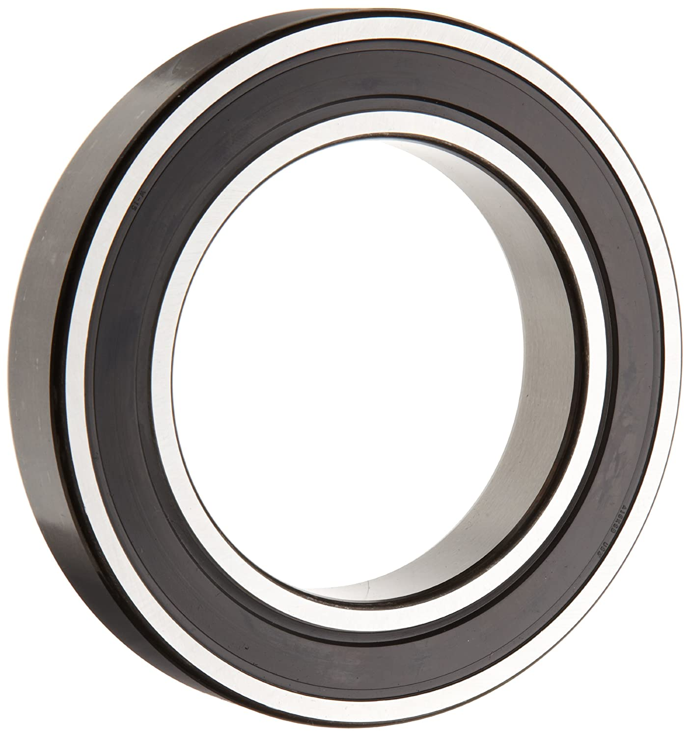 SKF 6008 2RSJEM Deep Groove Ball Bearing, Double Sealed, Steel Cage, C3 Clearance, 40mm Bore, 68mm OD, 15mm Width, 2610lbf Static Load Capacity, 3780lbf Dynamic Load Capacity