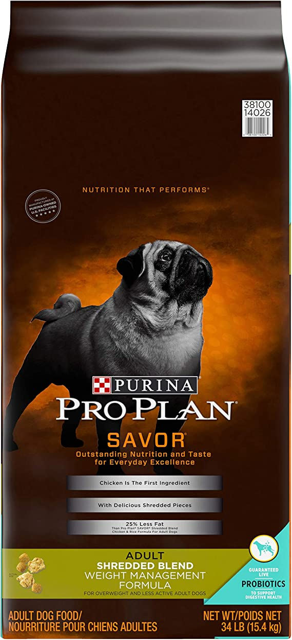 Purina Pro Plan Savor Weight Management Dry Dog Food - Holistic Adult Dog Food for Weight Management