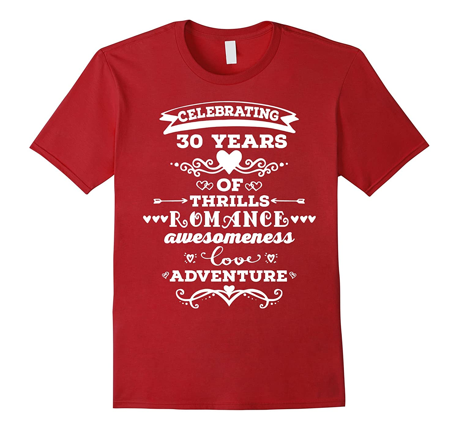30th Wedding Anniversary T-shirt 30 Years Together Gift-PL – Polozatee