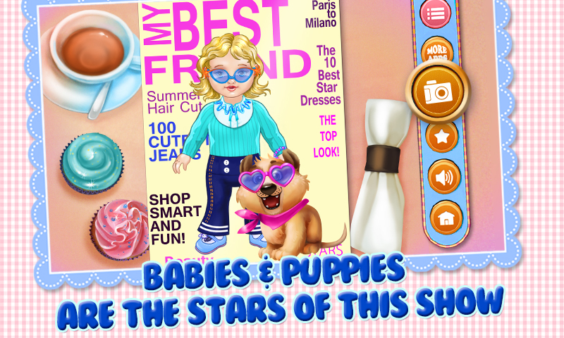 Babies & Puppies - Care, Dress Up & Play