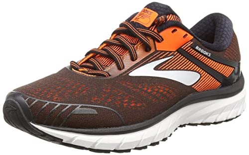 279be7ef2bb Brooks Men s Adrenaline GTS 18 Black Orange Ebony Running Shoes-10 UK