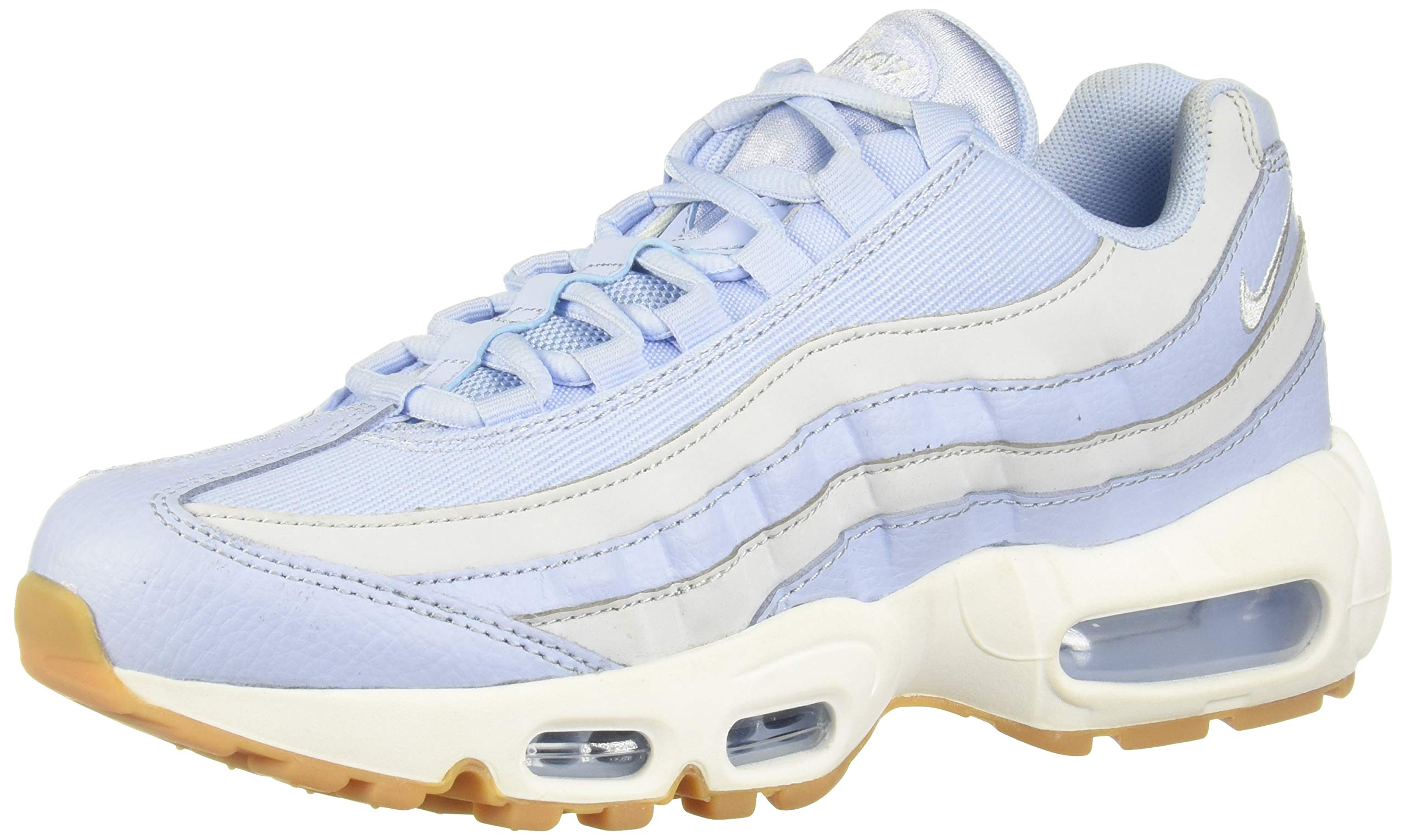 new style 60f5a 158b1 Nike Women's Air Max 95 Royal Tint/Pure Platinum Casual Shoe 6 Women US