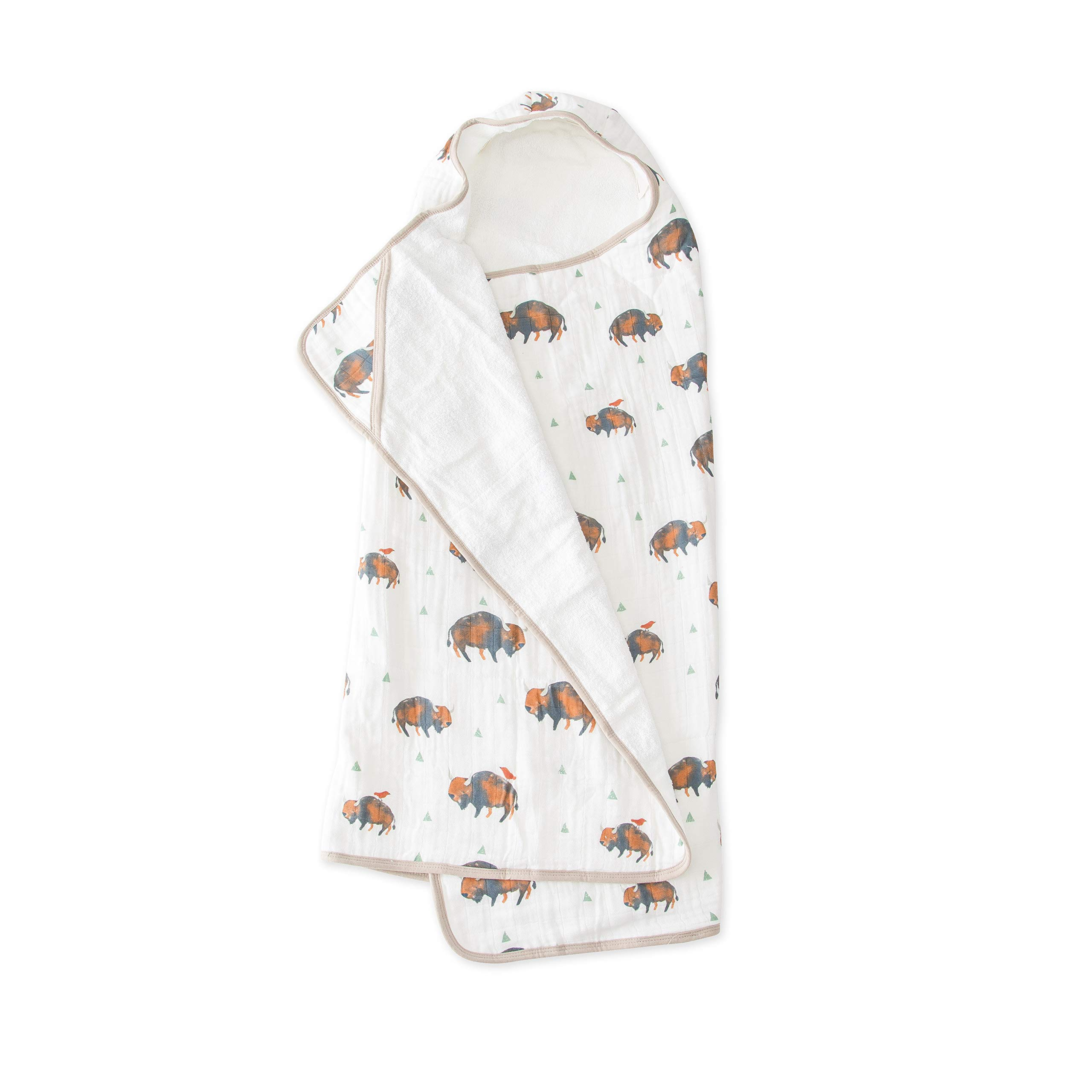 Little Unicorn Large Cotton Hooded Towel - Bison by Little Unicorn