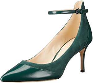 Nine West Women's Morrisa Dress Pump, Dark Green, 8.5 M US