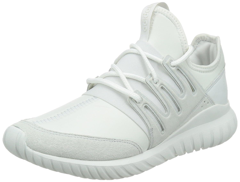 adidas Herren Tubular Radial Fitness-Schuhe, One Size  42 2/3 EU|Wei? (Crystal White/Crystal White/Crystal White)