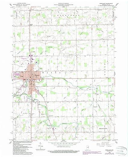 Amazon Com Indiana Maps 1960 Portland In Usgs Historical