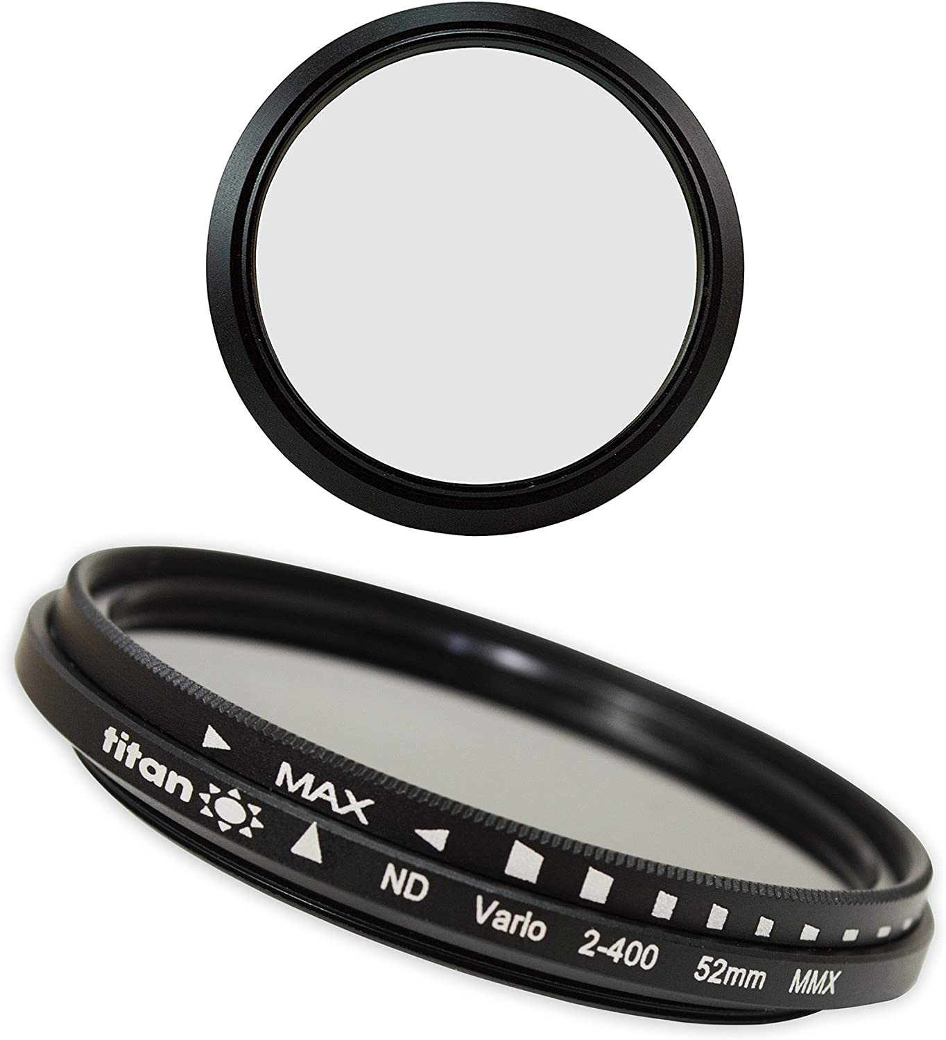 Amazon Com 52mm Adjustable Nd Filter Nd2 400 Ultra Slim Low Profile Variable Fader Neutral Density Filter With High Index Optical Glass Includes Protective Case By Titan Camera Photo