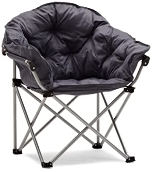 Strathwood Basics Polyester Padded Club Chair, Gray