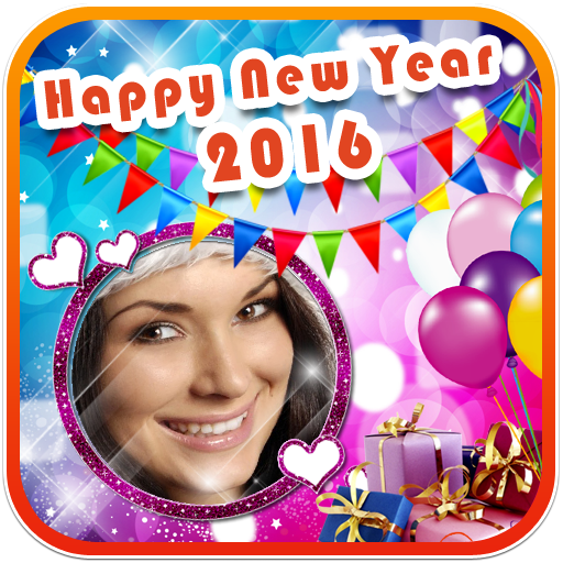 Happy new year photo frame apps