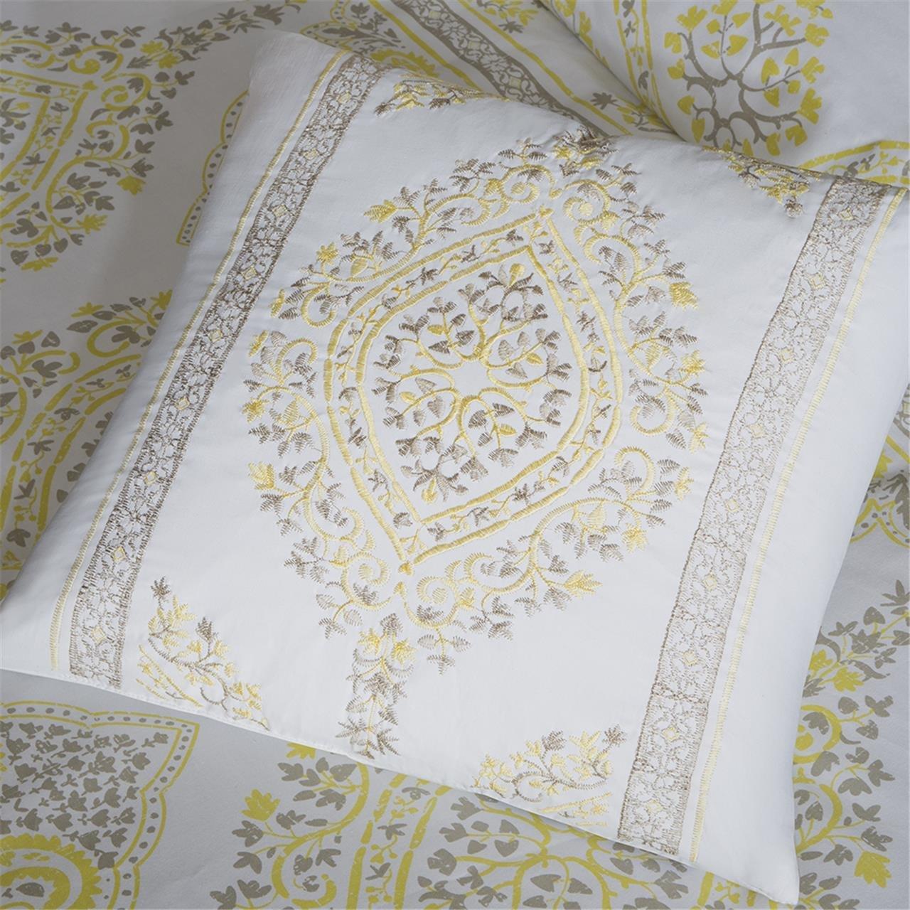 King Madison Park Libreto 7 Piece Comforter Set Yellow