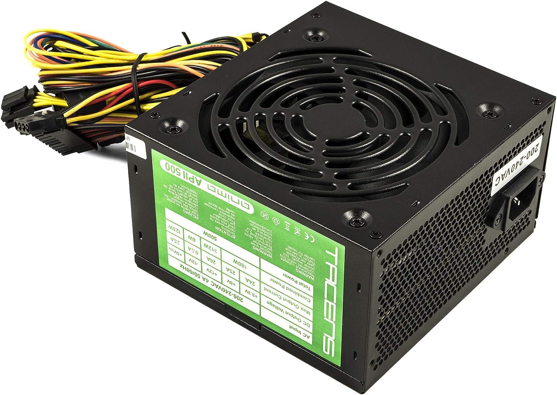Tacens Anima APII500, Fuente PC 500W, ATX 12V, 14dB, PFC Activo, Negro: Amazon.es: Electrónica