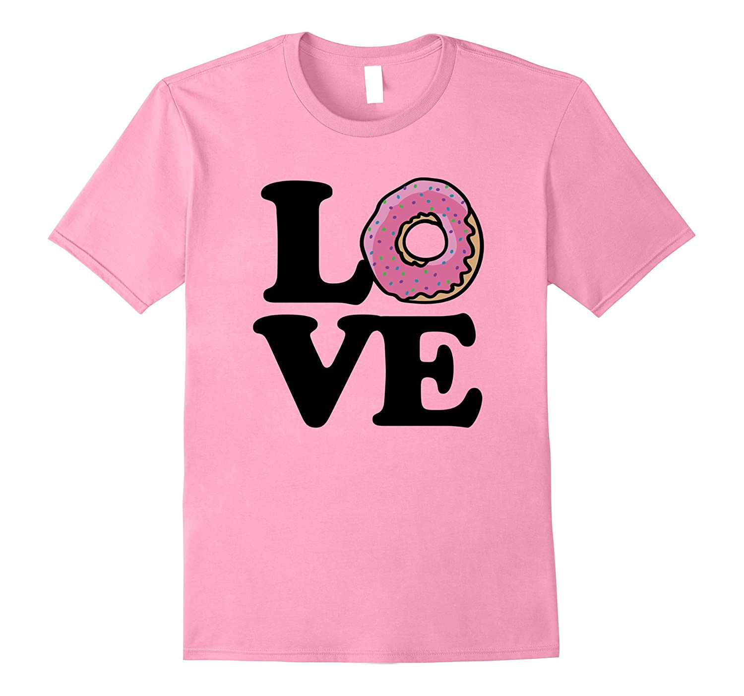 411df31e0 I love Donuts shirt donut love tee shirts with a pink donut-Vaci ...