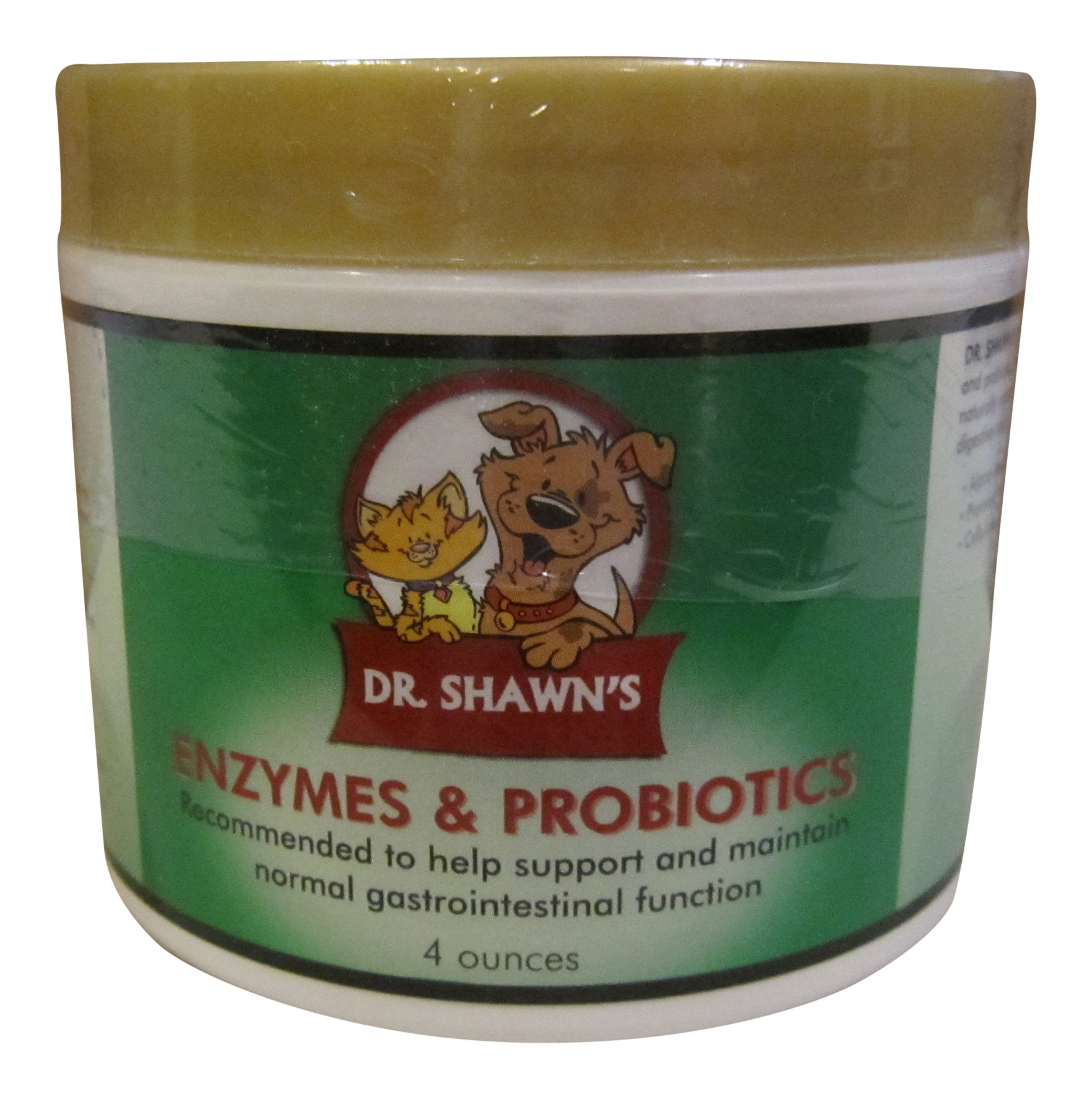 Dr Shawn's Enzymes & Probiotics for Dogs and Cats (4 oz), Supports Healthy Digestion and Overall Health, 100% Natural, Made in USA