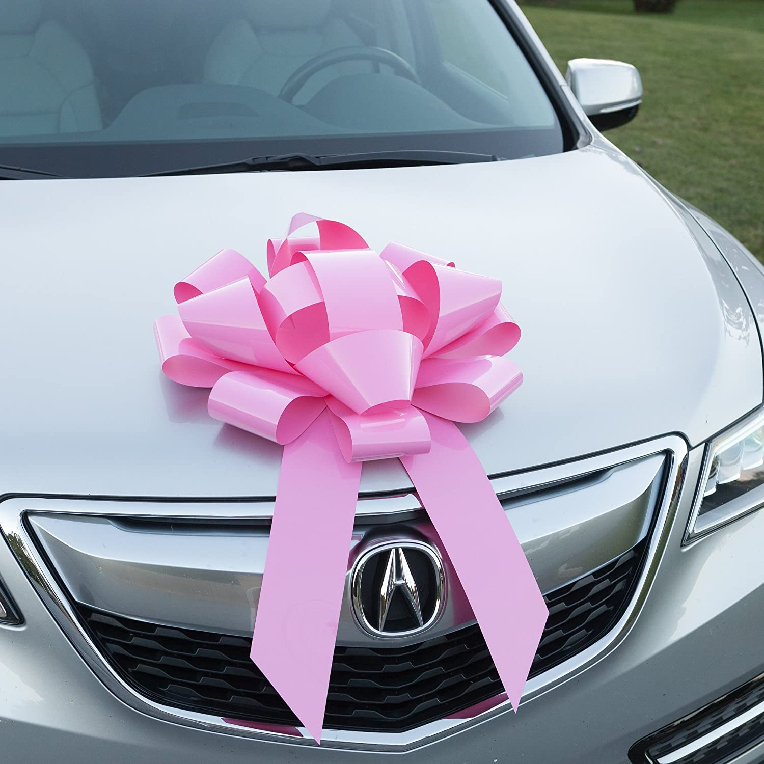 Amazon.com: Ella Celebration Pink Car Bow, No Assembly Required, Big ...