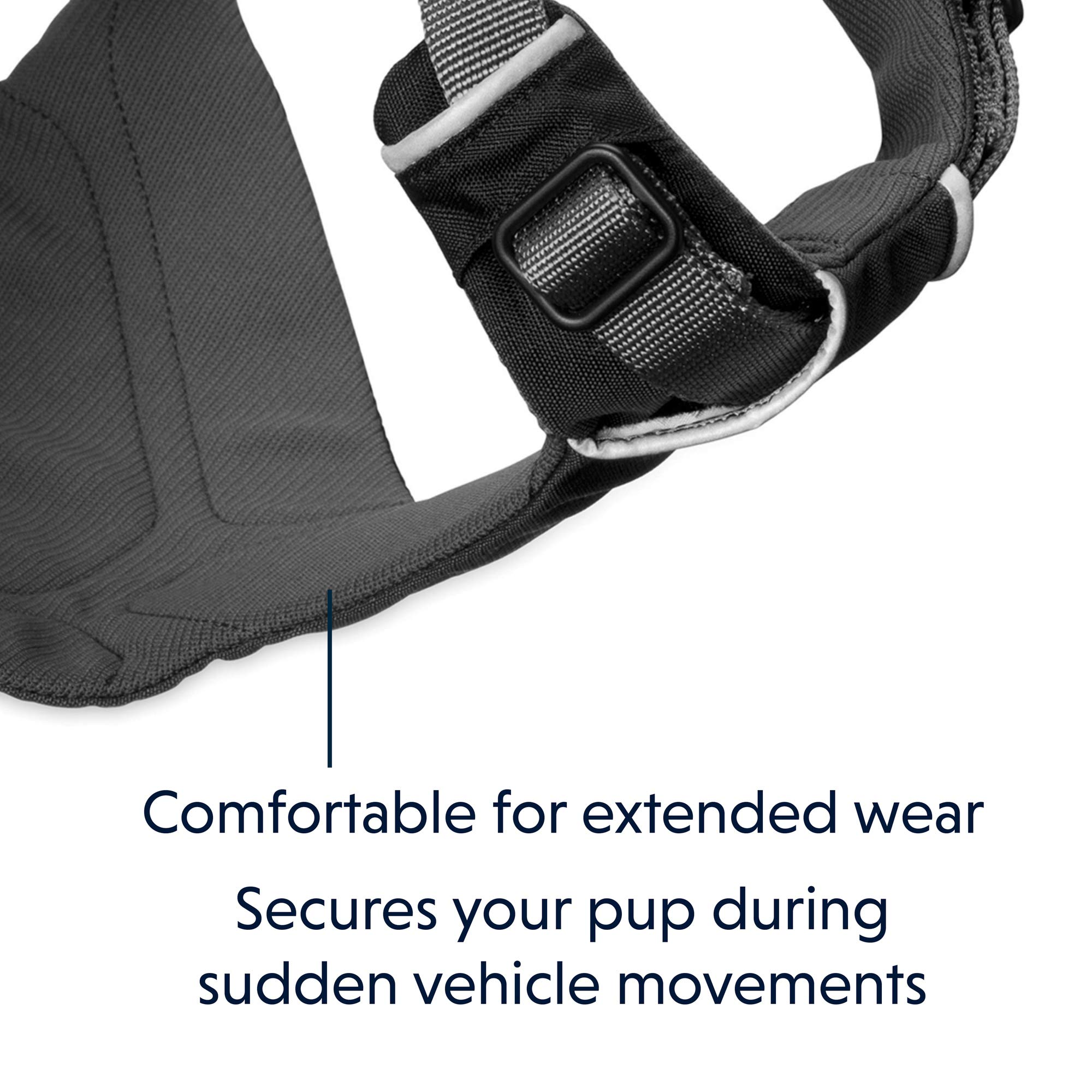 RUFFWEAR - Load Up, Dog Car Harness with Strength-Rated Hardware, Secure Vehicle Restraint, Universal Seat Belt Attachment, Obsidian Black, Medium by RUFFWEAR (Image #4)