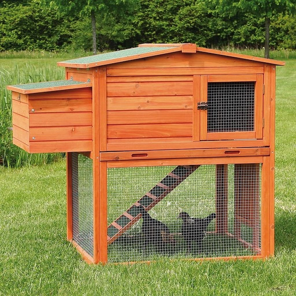 2-Story, Chicken Coop - Outdoor Run, This Coop Is Constructed Using Solid Wood, Composite Asphalt Shingles And A Weatherproof Finish For Years Of Use With Very Little Maintenance