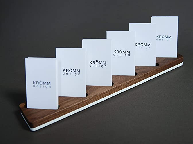 Amazon Multiple Vertical Moo Business Card Wood Stand Wood
