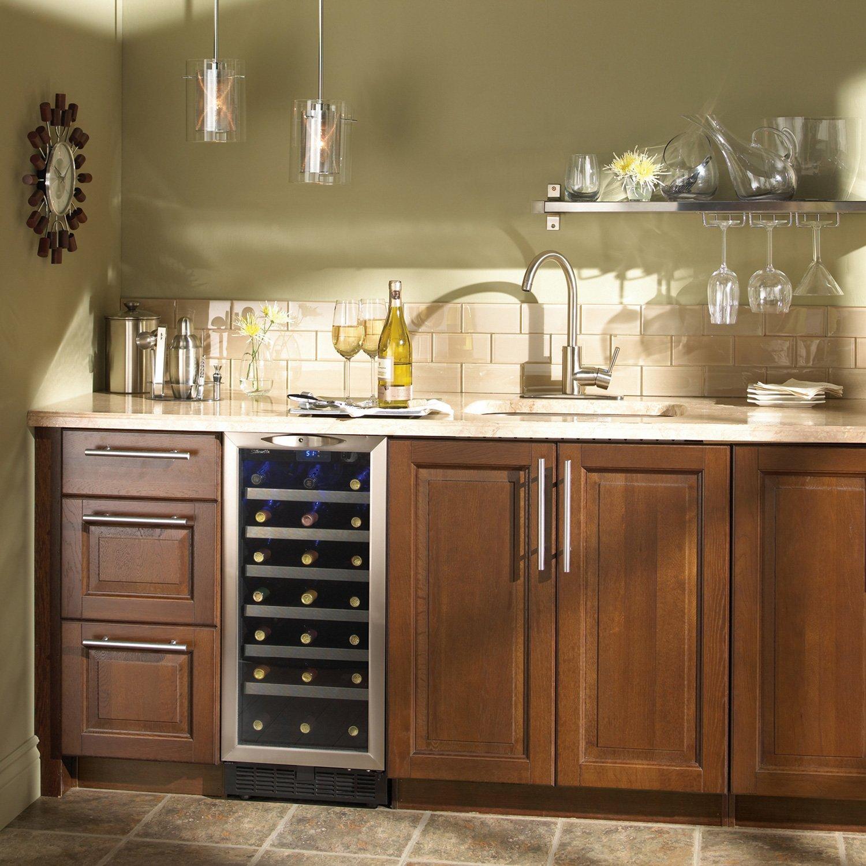 Charmant Amazon.com: Danby DWC1534BLS 3.7 Cu. Ft. 34 Bottle Silhouette Wine Cooler    Black/Stainless: Appliances