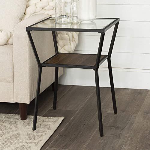 Walker Edison Furniture AZF18KAYSTDW Side Table