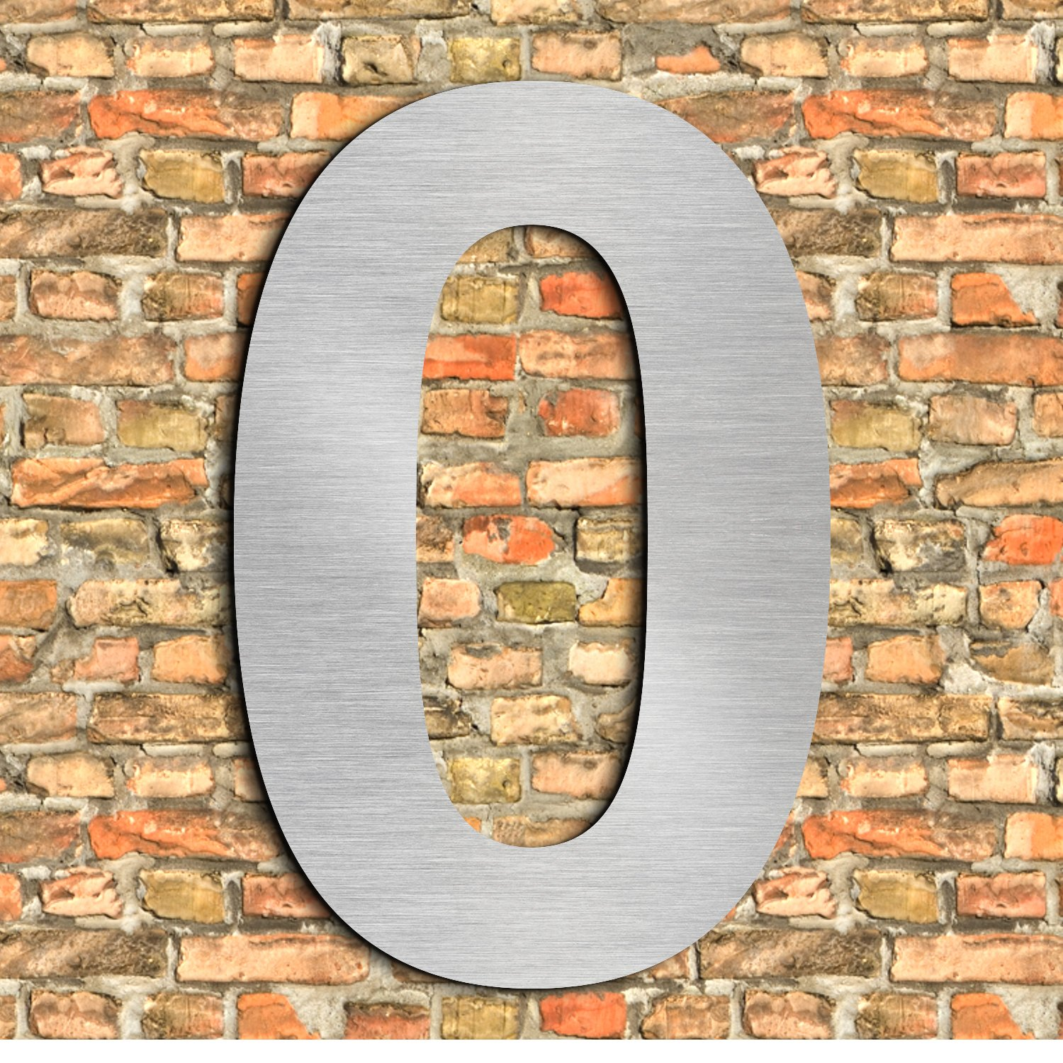 Brushed House Number 2 Two-25.4cm 10in-Made of Solid 304 Stainless Steel ,Floating Appearance,Easy to Install Lanewell