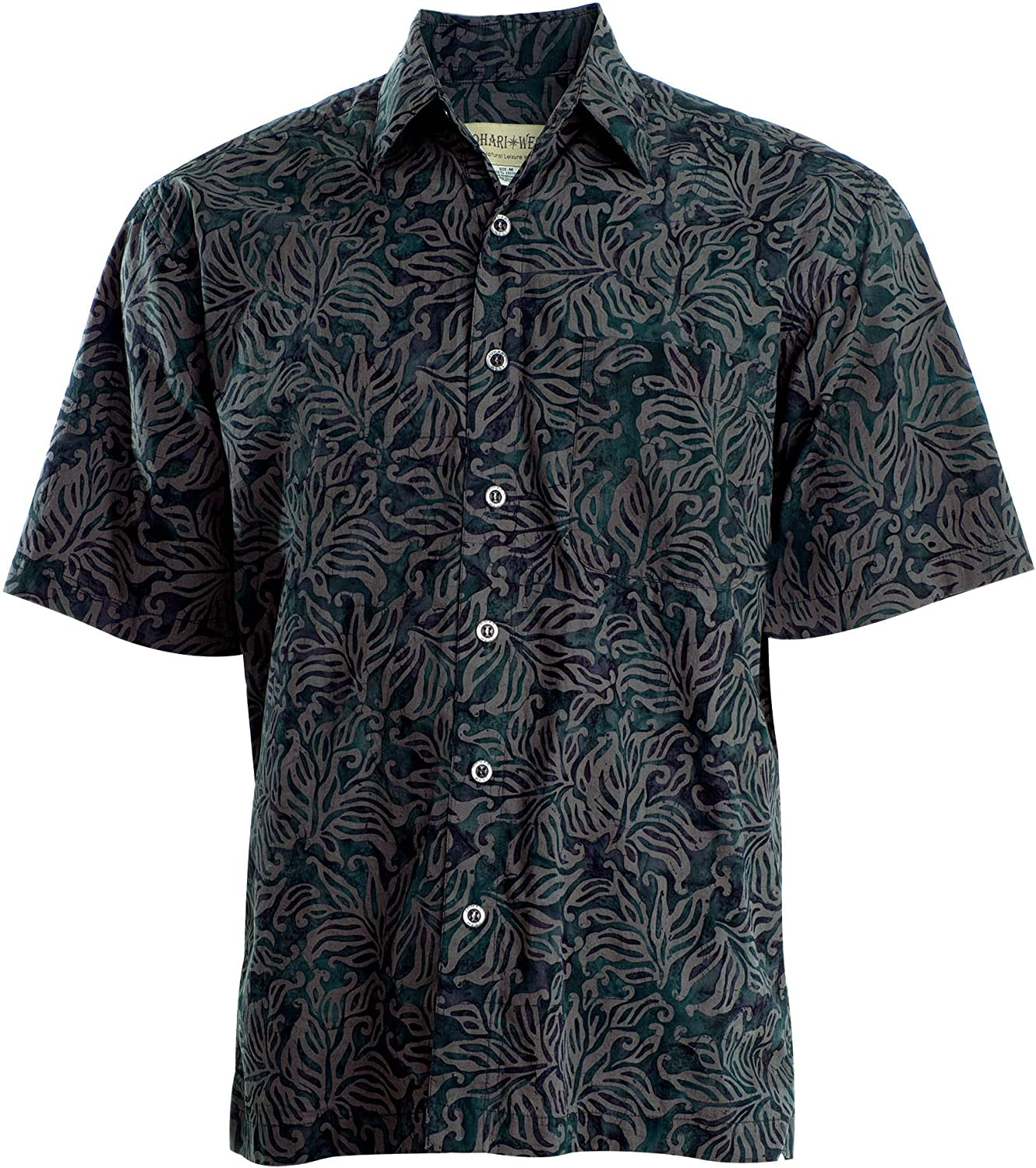 Johari West Autumn Gold Tropical Hawaiian Batik Shirt