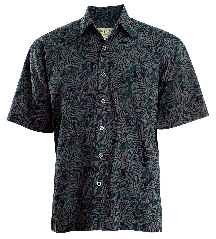 huge discount e1d63 bec48 Johari West Autumn Gold Tropical Hawaiian Batik Shirt