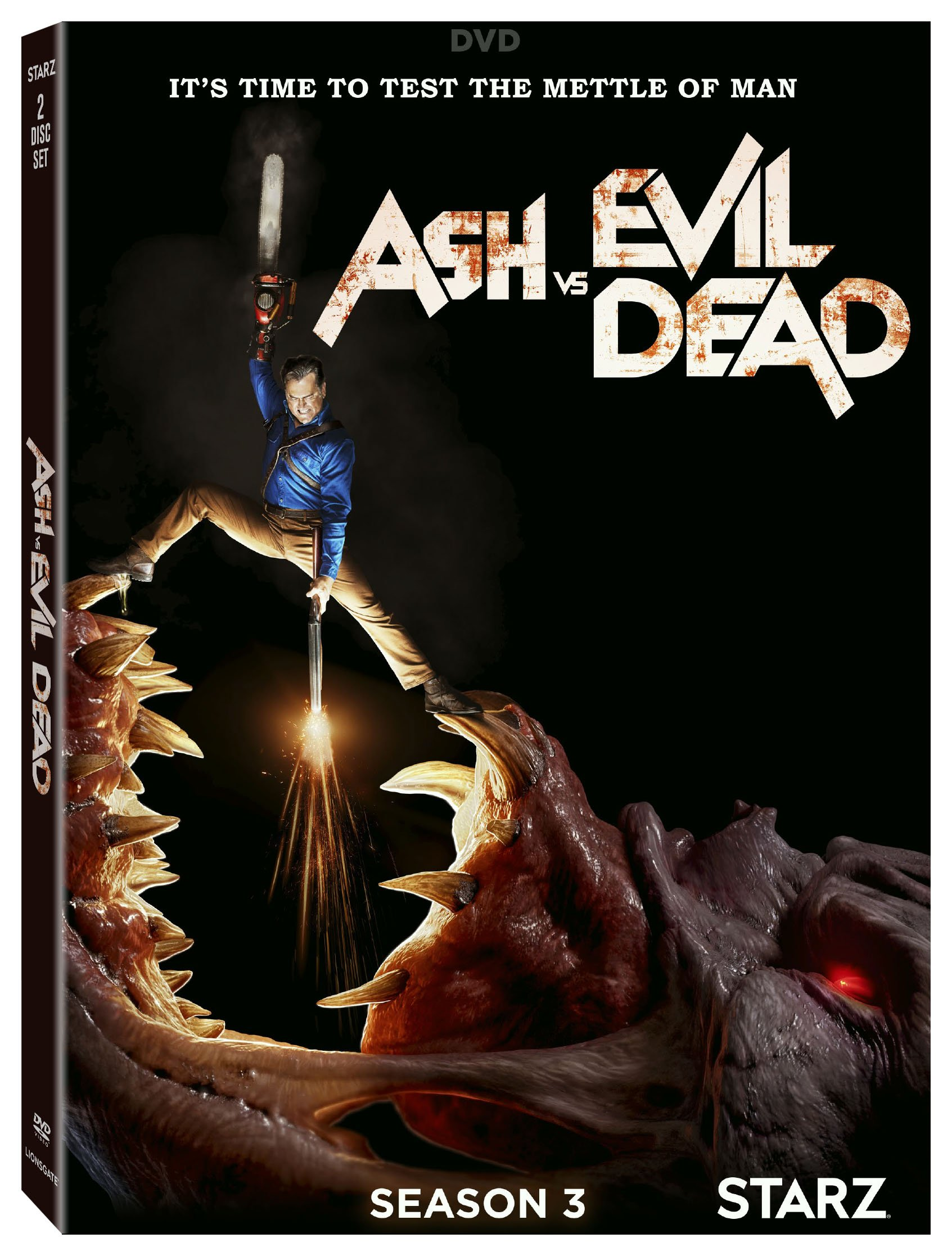 DVD : Ash Vs. Evil Dead: Season 3 (2 Pack, Widescreen, Dubbed, Dolby, 2PC)