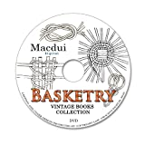 Basketry - How to make baskets, Seat weaving 45 e-books PDF on 1 DVD, Alaskan Basketry, Papago and Pima, Art of the American Indian