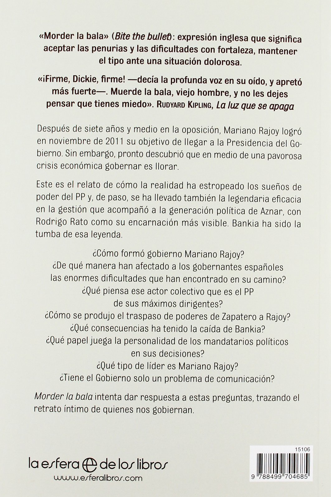 Morder la bala: Un año del gobierno de Mariano Rajoy Actualidad ...
