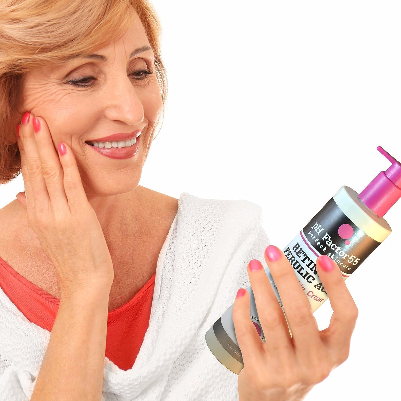 Amazon Com Ph Factor 5 5 Retinol Cream For Face And Body With Ferulic Acid Anti Sagging Cream Targets Crepey Skin And Wrinkles Anti Aging Cream With Retinol And Ferulic Acid 15oz Bottle 15oz Beauty