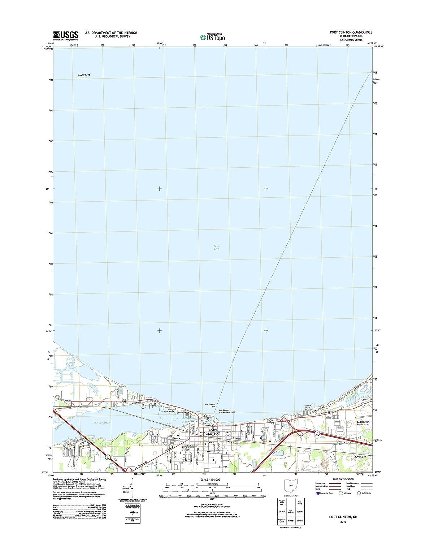 Amazon Com Topographic Map Poster Port Clinton Oh Tnm Geopdf 7 5