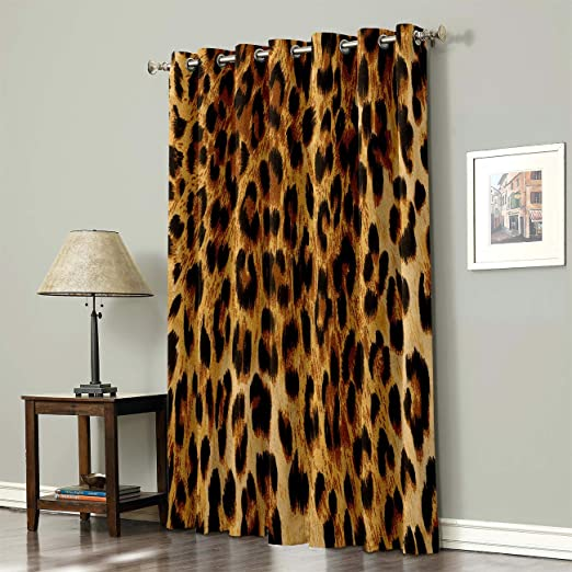Amazon Com Advancey Leopard Print Thermal Insulated Blackout