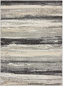 Luxe Weavers Tower Hill Abstract Gray 5x7 Area Rug