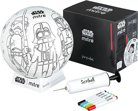 Mitre Kids Star Wars Darth Vader scriball, Color Blanco, tamaño 3 ...