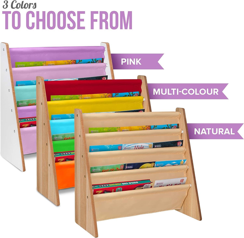 accès facile en bois Livre – Livivo ® Enfants Coloré Sling stockage étagère