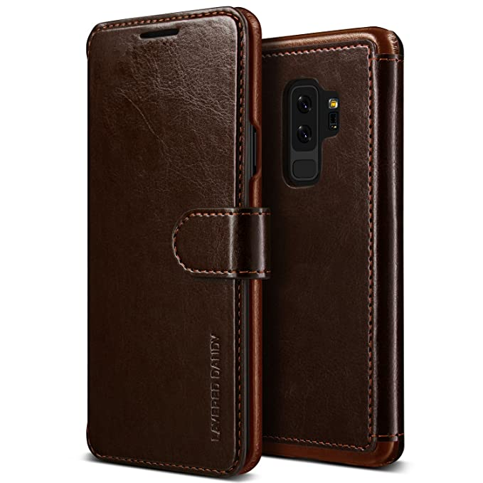 half off 97018 6ef3e Galaxy S9 Plus Case :: VRS :: Drop Protection Cover :: Classy Slim Leather  Wallet:: ID Credit Card Slot Holder for Samsung Galaxy S9 Plus (Layered ...